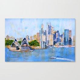 Colorful Sydney Harbor Canvas Print