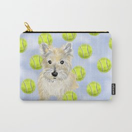 Miss Caroline the Cairn Terrier is Obsessed About Fetching Tennis Balls Carry-All Pouch