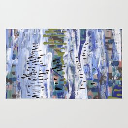 Abstract birches. Rug