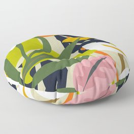 Jungle Abstract 2 Floor Pillow