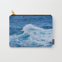 Waves on rock at Atlantic ocean. Carry-All Pouch