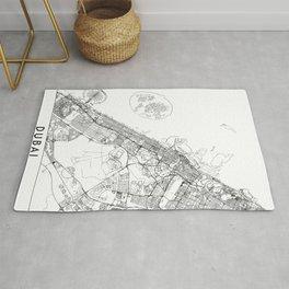 Dubai White Map Rug
