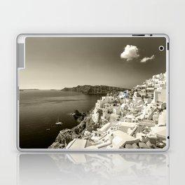 Santorini Seascape in sepia Laptop & iPad Skin