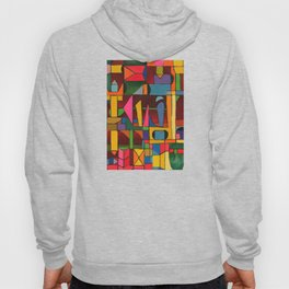 Colors In Collision 1 - Geometric Abstract of Colors that Clash Hoody