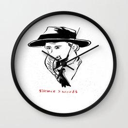 A man's silence. Wall Clock