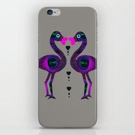 Kissing Flamingos iPhone Skin