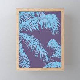 Ultra Violet Palm Print Framed Mini Art Print