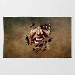 Vampire Screaming Rug
