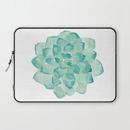 Watercolor Succulent print in seafoam green Laptop Sleeve