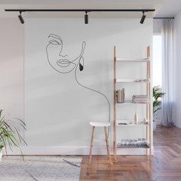 Black Earring Wall Mural