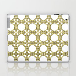 Gold & White Knotted Design Laptop & iPad Skin