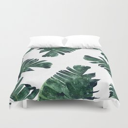 Banana Leaf Watercolor #society6 #buy #decor Duvet Cover