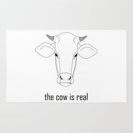 The Cow IS Real Rug