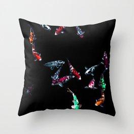 Nishikigoi Koi Coloration Fishes  Throw Pillow