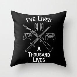 Gamer Lives Throw Pillow