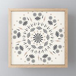 Snowflakes Scandic Nordic Framed Mini Art Print