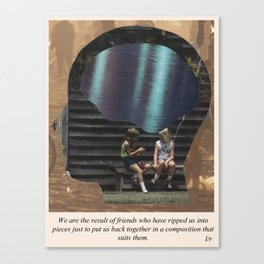Friends with Text Canvas Print