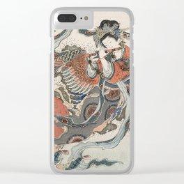 Mystical Bird Clear iPhone Case