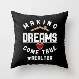#Realtor Throw Pillow