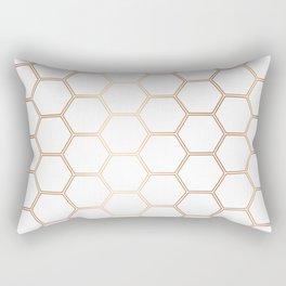 Honeycomb - Rose Gold #372 Rectangular Pillow
