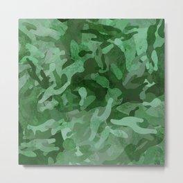 Green Seamless Camouflage Metal Print