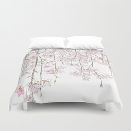 pink cherry blossom spring 2018 Duvet Cover