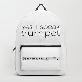 Do you speak trumpet? Backpack