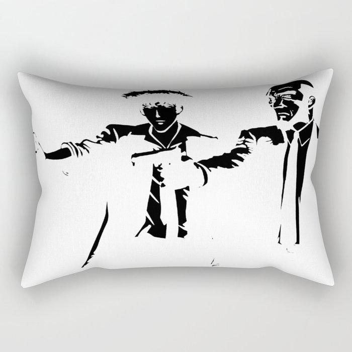 Cowboy Bebop - Spike Jet Knockout Black Rectangular Pillow