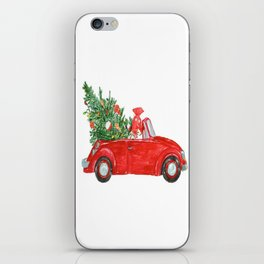 Christmas Car iPhone Skin