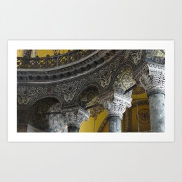 Golden Hagia Sophia  Art Print