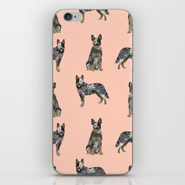 Australian Cattle Dog blue heeler dog breed gifts for cattle dog owners iPhone Skin