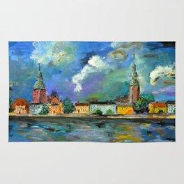 A Night of Color in Riga Rug