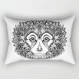 MONKEY head. psychedelic / zentangle style Rectangular Pillow