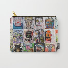 Basquiat Faces Montage Carry-All Pouch