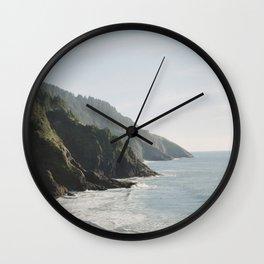 Cape Perpetua - Oregon Coastline - Fine Art Travel Photography Wall Clock