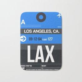 LAX Los Angeles Luggage Tag 3 Bath Mat