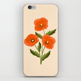three red poppies iPhone Skin