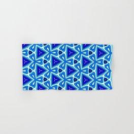 Bright blue Geometric Pattern Design Hand & Bath Towel