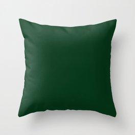 Dark green 2 Throw Pillow