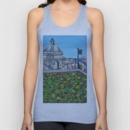 Spring at City Hall, Cardiff Unisex Tank Top
