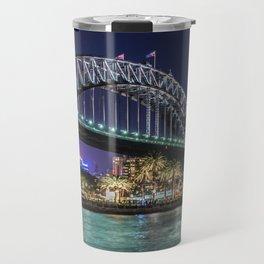 Sydney Harbor Bridge at Night Travel Mug