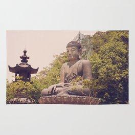 Seated Bronze Buddha Rug
