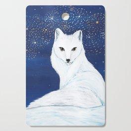 Holiday Arctic Fox Cutting Board