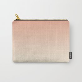Antique White and Dark Salmon Ombre Colors Carry-All Pouch