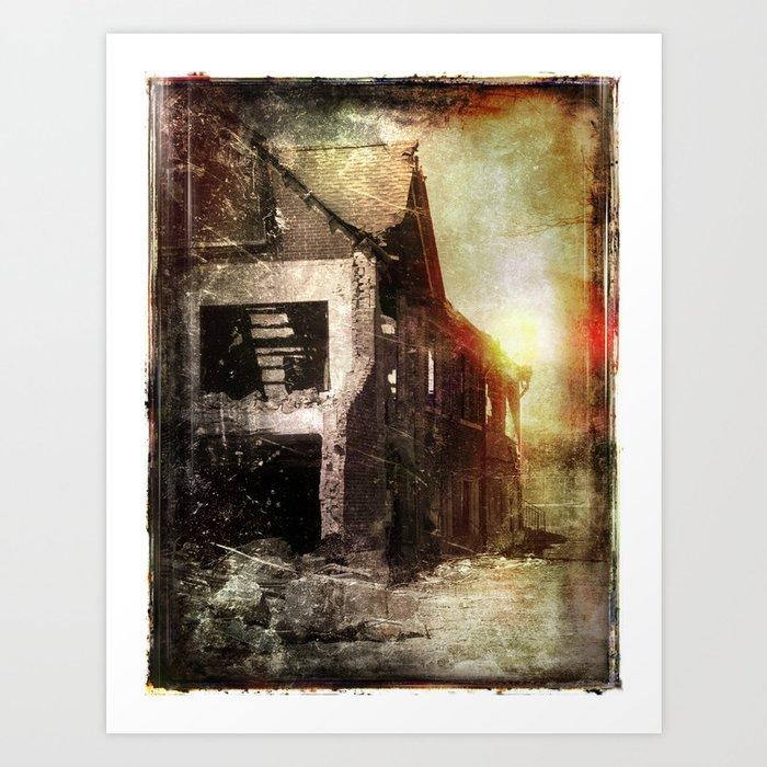 False Sunrise Art Print
