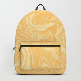 Yellow Liquid Marble Backpack