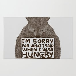 I'm Sorry For What I Said When I Was Hungry Rug