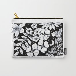 Floral Pen and Ink Sampler Carry-All Pouch