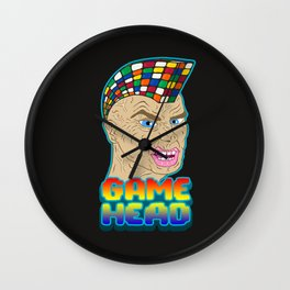 GAME HEAD Wall Clock