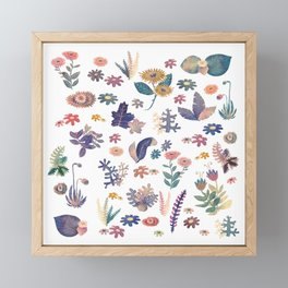 Multi natural pattern Framed Mini Art Print